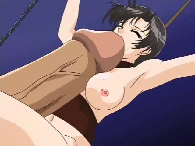 big tits hentai chick taking a large hard dick
