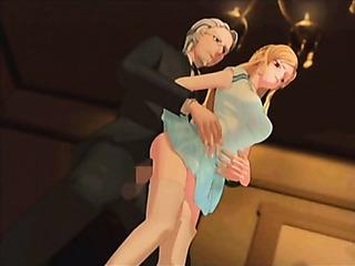 blonde mistress jeering old