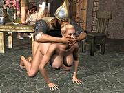 horny king spanking his