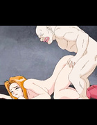 Busty red hentai chick banged hard by humans and monsters