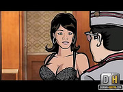 brunette bombshell from archer