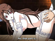 busty brunette maid spreads