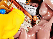 oiled gals with bodacious