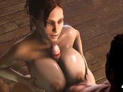 ball-sucking bimbo titty fucks