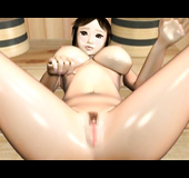 Thin temptress likes to titty fuck and becomes wet and boned in a spa.