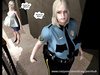 Kinky lady cop's interaction with pregnant chick
