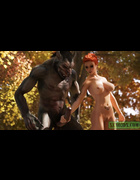 Wolfish man licks and dicks Little Red Riding Hood